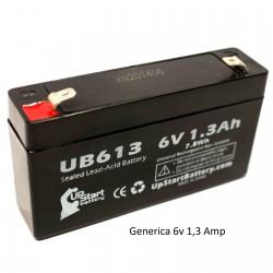 Bateria Plomo 6v 1,2amp