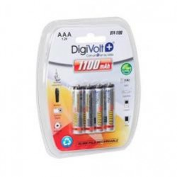 Pack 4 Recargables R3/AAA  1100ma