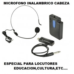 U-Mic Micro Inalambrico Cabeza x Usb