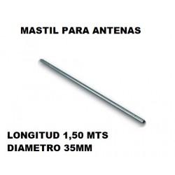 Mastil Antena Hierro 1500x35mm