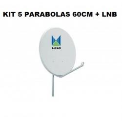 Kit 5 Parabolas C/ Lnb