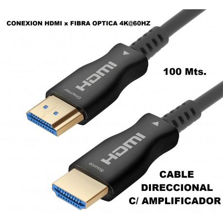 Hdmi Fibra Optica 100 Mts.