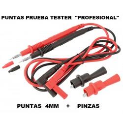 """Punta Tester 4mm + Pinzas """" Profesional """""""