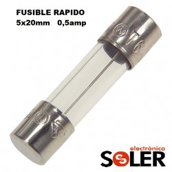 Pack 5 Fusibles 5x20 Rapido 500ma