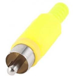 Conector Rca Amarillo Plastico